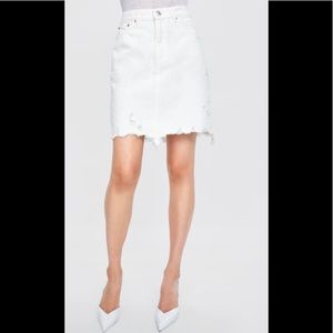 Zara Denim Skirt Size XS Off White